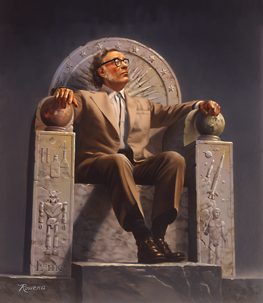 Portrait of Isaac Asimov by Rowena Morrill