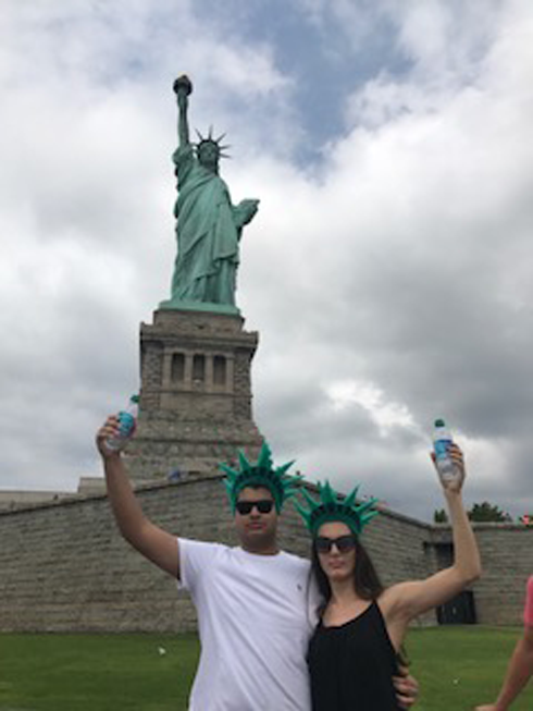 We didn't have torches, so we used water bottles instead. Behold the statue of Parth and Dasha!